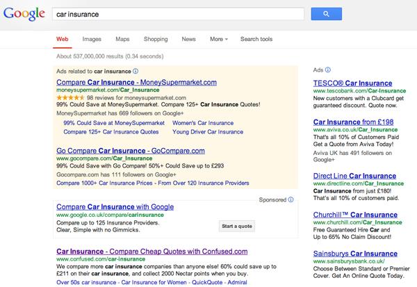 Пользователи не отличают органической выдачи от контекстной рекламы