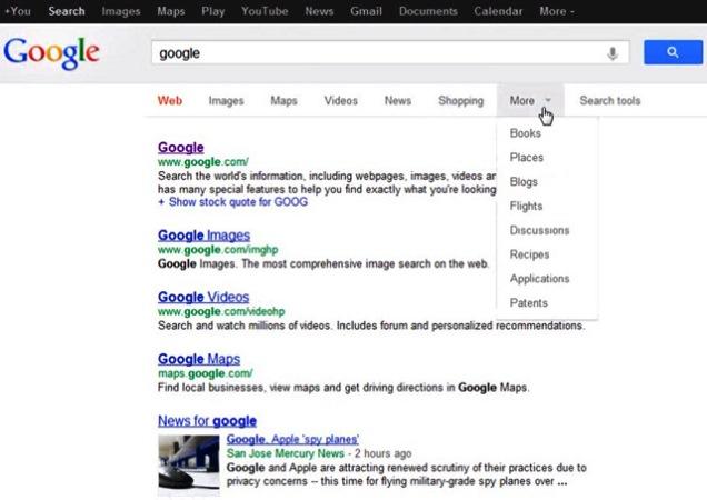 Google тестирует новый интерфейс