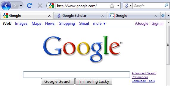 Все фавиконы в истории Google